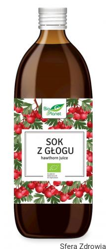 SOK Z GŁOGU BIO 500 ml - BIO PLANET